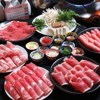 5種のお肉を4種のつけダレと11種の薬味で味わう!