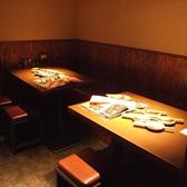 【6~8名様】4人+4人で8人席になるボックス席。仲間内の宴会にも★