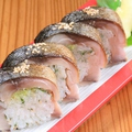 料理メニュー写真金華鯖炙り棒寿司(8貫)