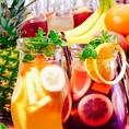 ★★《スペイン研修で学んだ自家製サングリア》★★いろんなフルーツを漬けこんで飲みやすくフルーティになったワイン。当店では赤白ご用意しております★