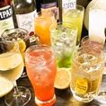 【飲み放題】ビール・ワイン・サワー・果実酒・梅酒・ウィスキー・ハイボール・焼酎・カクテルと充実のラインナップです♪
