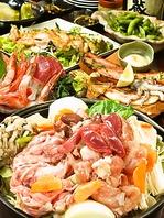 地鶏の鶏鍋コース全6品生ビール込120分飲み放題付2480円