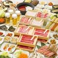 全国の市場に足を運び、ベテランの目利きが厳しく見極めた黒毛和牛のみを使用。本物だけが持つ美味しさをお届します♪お肉に自慢のおだしは9種類から。2色鍋でもお楽しみ頂けます。食べ放題なら前菜・お野菜・お肉・つみれ・鍋肴・〆物など色々選べる60種類以上♪きっと満足いただけます。◇しゃぶしゃぶ温野菜プレナ幕張店