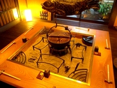 冬は囲炉裏部屋でお鍋を楽しめます。