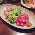 料理メニュー写真イベリコ豚スモークローストとパストラミビーフの盛り合わせ