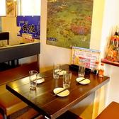 4名様用のテーブル席は女子会や合コンなど、少人数でのお集まりに最適◎