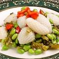 料理メニュー写真高菜と枝豆とイカ炒め