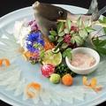 料理メニュー写真~糸島の漁師直送~ カワハギ活造り