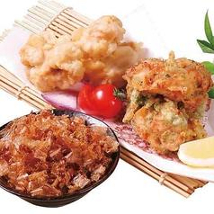 料理メニュー写真鶏天の2色揚げ