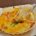 料理メニュー写真濃厚3種類のチーズホタテのグラタン