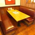 6名様ボックステーブル席♪ゆったりソファがうれしいボックスタイプのお席。