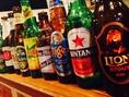 ビール好きの方必見☆アジア各国のビールを取り揃えております!お好みに合わせておすすめも致します♪