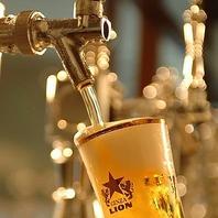 豊富な樽生ビールが集合!!