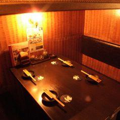 こちらは4名様のBOX個室です。