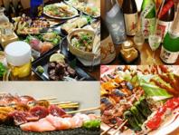 県内・国内産にこだわった料理の数々…