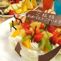 誕生日にはケーキをご用意