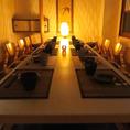 会社宴会や歓送迎会などにおすすめの個室席。ゆったりとお寛ぎいただける空間となっております。食べ放題コースもご用意しておりますので、秋田での各種宴会に是非ご利用ください。