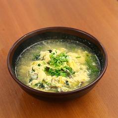 半熟たまごの冷やしぶっかっけうどん/野菜たまごクッパ/たまごスープ/わかめスープ