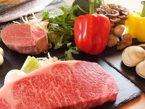黒毛和牛をメインにした本格イタリアン&鉄板焼き