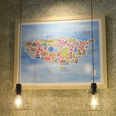 台湾の地図が飾ってあります。