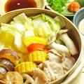料理メニュー写真紅葉豚と広島野菜のせいろ蒸し