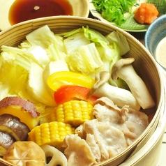 紅葉豚と広島野菜のせいろ蒸し