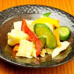 料理メニュー写真野菜の浅漬け