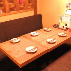 掘りごたつのお座敷は、落ち着いてお食事をお楽しみ頂けます。