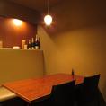 プライベートな空間でゆっくりとお料理とお酒をお楽しみいただけます。