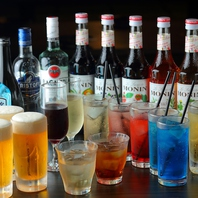 飲み放題の種類は地域最大の豊富さ♪全130種類以上!!