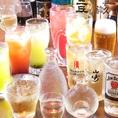 《単品飲み放題なんと地酒3種付き!!!》お気軽にご宴会を愉しんでいただくため単品飲み放題1500円をご用意しております。サワーやハイボール、さらに静岡の地酒3種を含む飲み放題となっております。