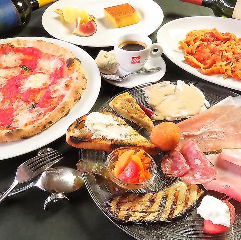 【要予約】パスタかピッツァのメニュー