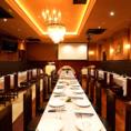 1.5次会に!岐阜で最大クラスのレストランウエディングが出来ます。ドレス、司会者さん、DJなども承ります。
