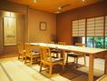 【洞庭】テーブル席 1列対応4~8名様まで 、テーブル席2列対応 11~16名様まで