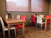 テーブルは4名席×2卓、2名席×1卓あり。