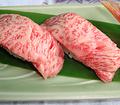 料理メニュー写真飛騨牛のにぎり寿司