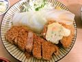 料理メニュー写真ハモフライとヒレカツ定食