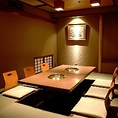 3階掘りこたつ式お座敷個室です。着物スタッフによる丁寧な接客でおもてなし致します。