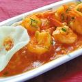 料理メニュー写真フレッシュトマトの海老チリソース