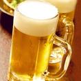 キンキンに冷えたビールで乾杯! エクストラコールドあります。