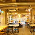 大阪下町のような雰囲気の店内。2次会や3次会の利用も人気です!