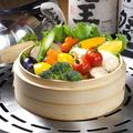料理メニュー写真野菜のせいろ蒸し
