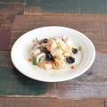 料理メニュー写真3種魚介とオリーブのレモンマリネ