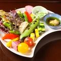 料理メニュー写真秋保大滝自然農園有機野菜と県内産野菜の炭火焼き盛り合わせ 自家製バーニャカウダソース