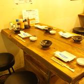 【テーブル席】ゆっくり落ち着いて飲めるテーブル席です。女子会などの小規模宴会にどうぞ。