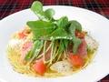 料理メニュー写真【ペペロンチーノ】プロシュートとルッコラのアーリオオーリオペペロンチーノ