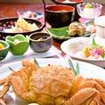 昼ミニ懐石(2980円)北海道より毛蟹を直送
