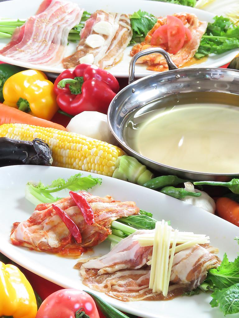 夏企画♪野菜いっぱいしゃぶしゃぶ付全70品食べ飲み放題1980円→1650円♪