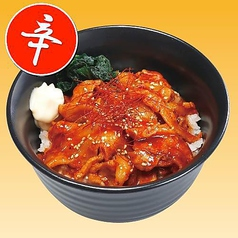 直火旨辛カルビ丼/塩ダレカルビ丼/さっぱりおろしハンバーグ丼/肉厚ソースかつ丼