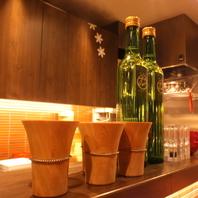 目でも愉しめる。酒器にもこだわる、お酒各種充実。